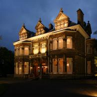 mansion house at night